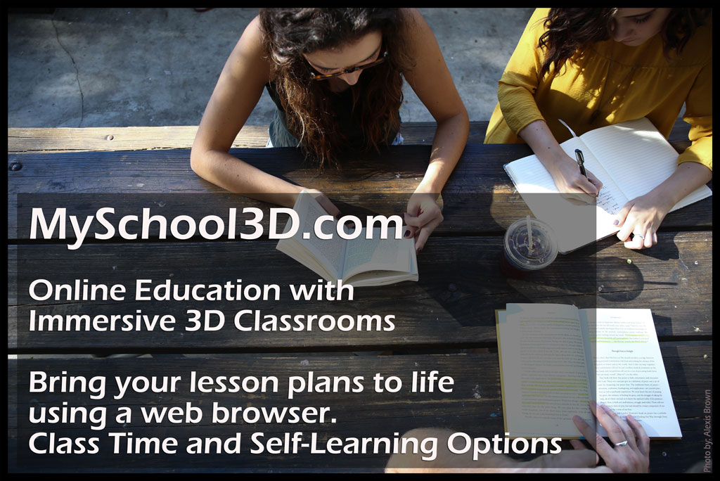 MySchool3D - Teaching Online, Virtual World in a Web Browser